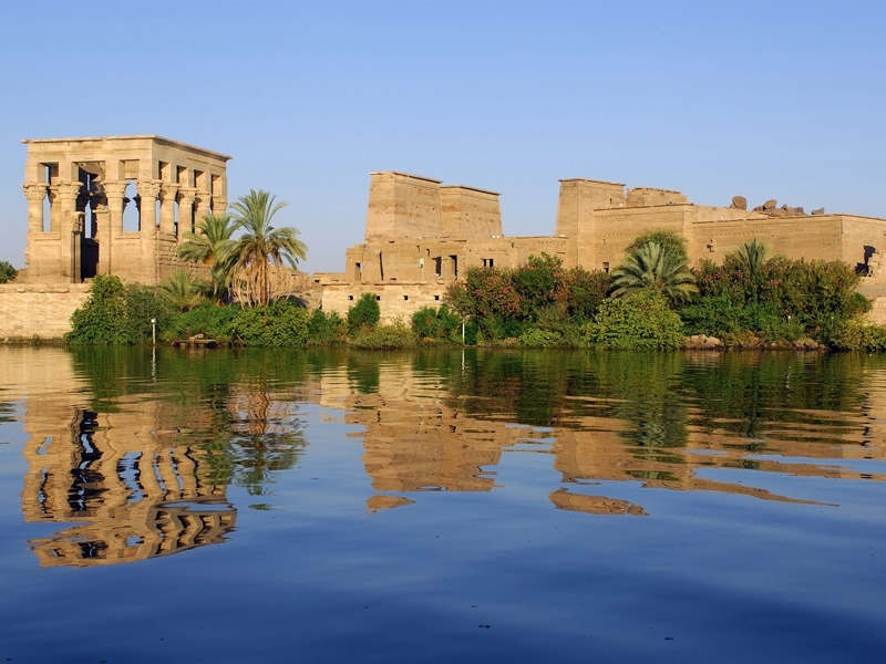 Philae temple in Upper Egypt