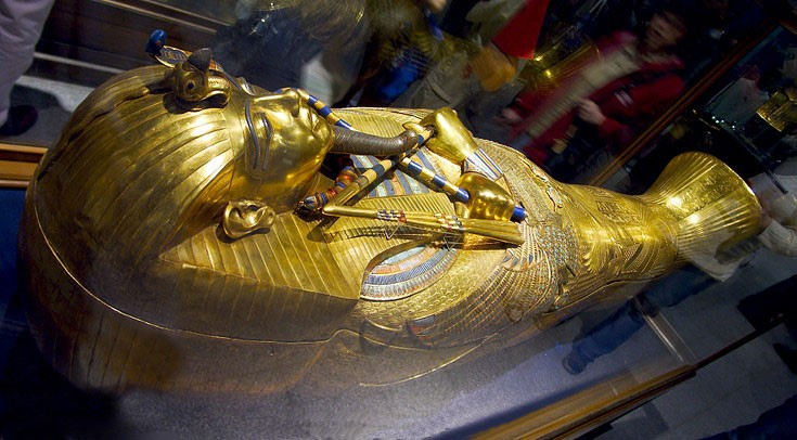 Tutankhamun Golden Coffin in The Egyptian Museum
