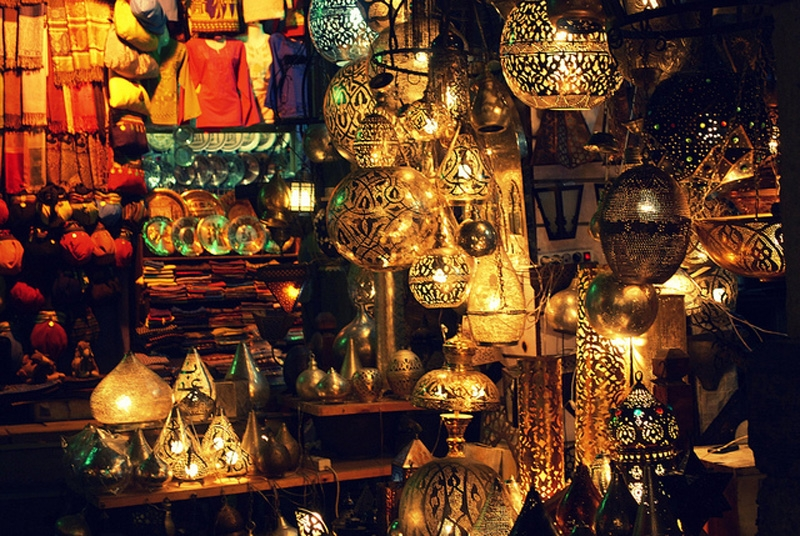 Khan El Khalili Bazaar in Old Cairo