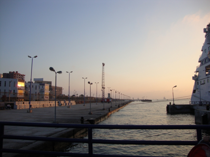 Port Said at Sunset