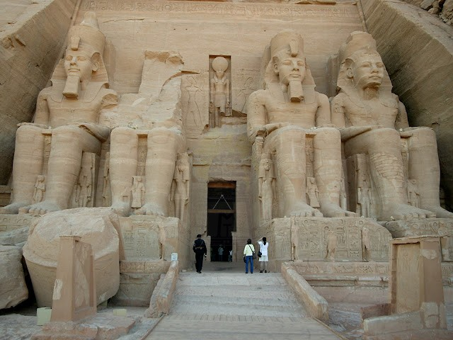 Facade of The Grand Temple of Abu Simbel, Upper Egypt