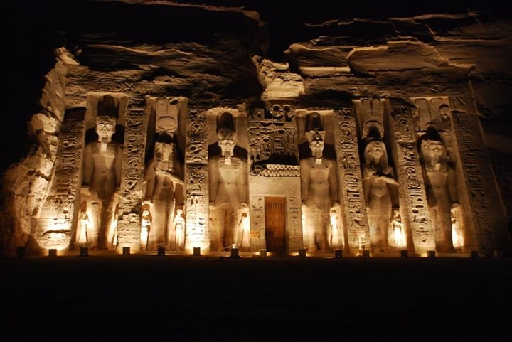Nefertiti Temple at Abu Simbel by Night