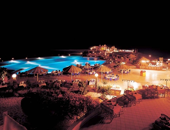 Kahramana Beach Resort at Night