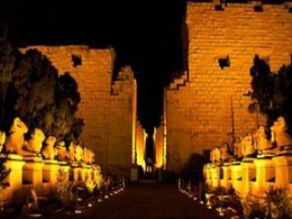 Ton- und Lichtshow in Philae