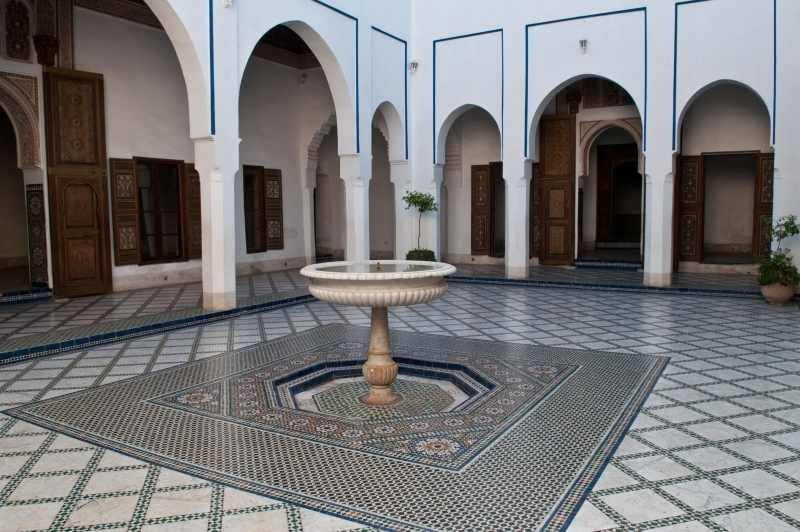 El palacio de Marrakech, Marruecos