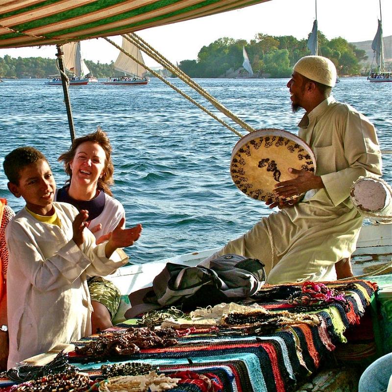 Passeio de Felluca,Aswan