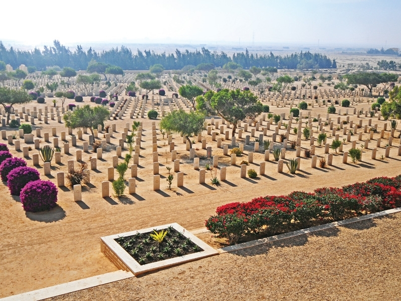 Commonwealth Cemetery in El Alamein