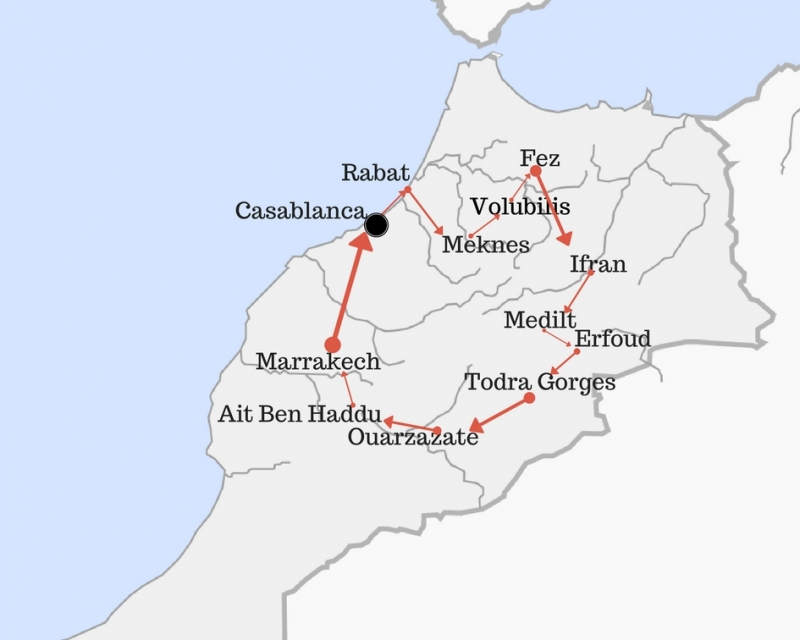 Morocco Imperial Cities and Desert
