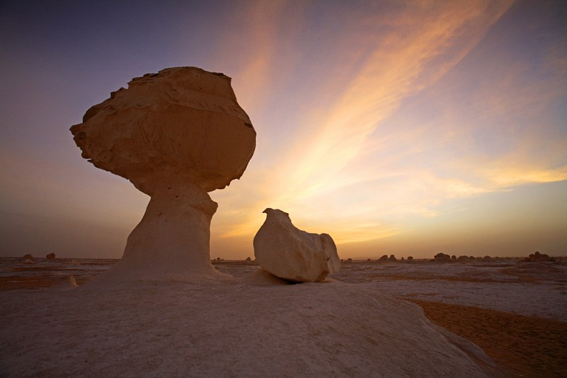 Sunset views in White Desert