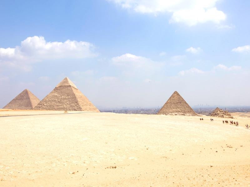 Vista Panoramica delle Piramidi, Necropoli di Giza