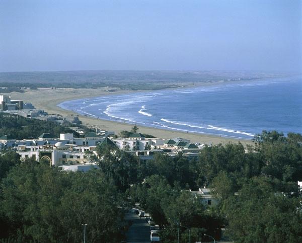La bahía de Agadir.