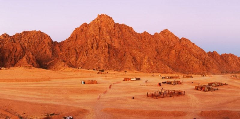 Red Rocks on Sinai Near Moses Mountain