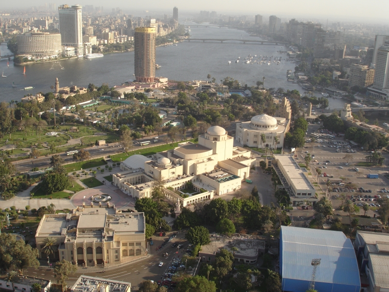 Cairo Opera House and Downtown Area