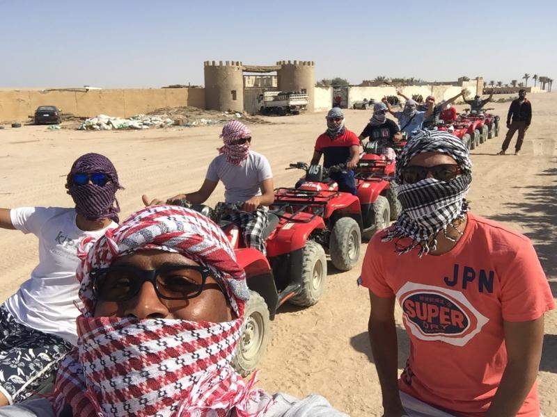 Deserto di Marsa Alam in Quad