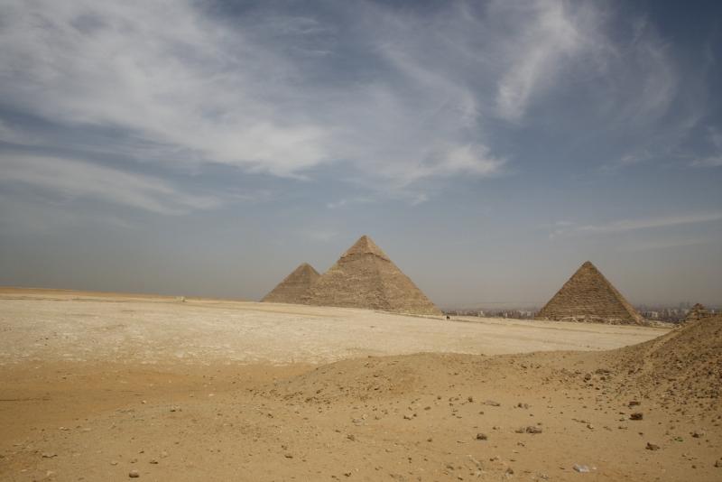Amazing View of Giza Pyramids