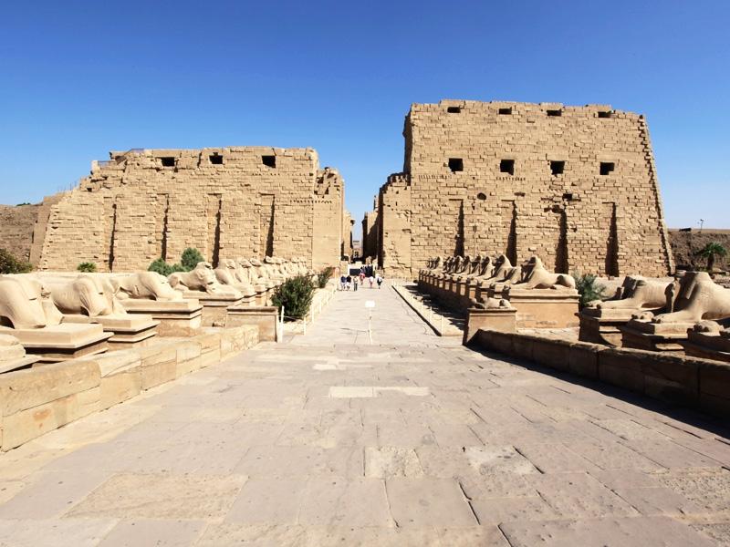 Sphinxes Avenue in Karnak Temple