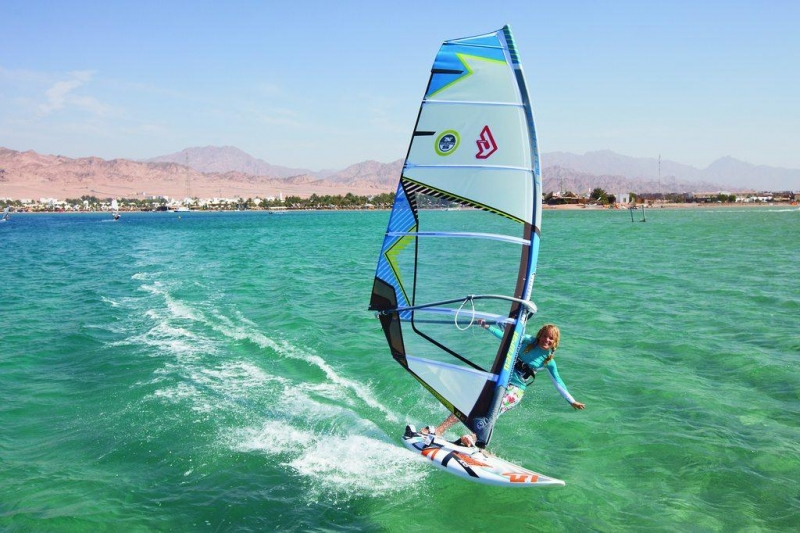 Windsurfing in Dahab, Red Sea