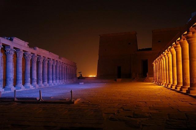 Show de luz e som no Templo de Philae