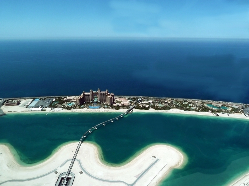 Panoramic View of Atlantis Hotel
