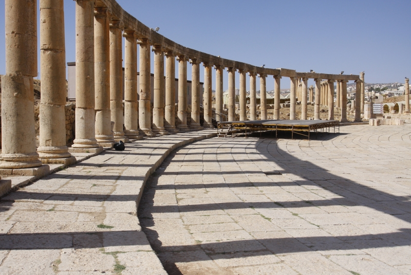 Oval Palace in Jerash