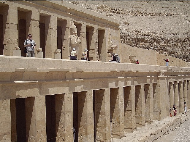 The Upper Level of Hatshepsut Temple