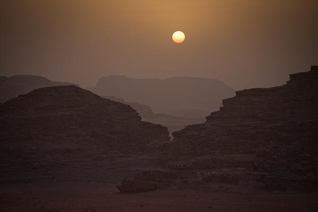 Wadi Rum al Tramonto