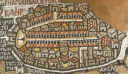 Mosaïque de la carte chrétienne, Église Saint Georges, Madaba
