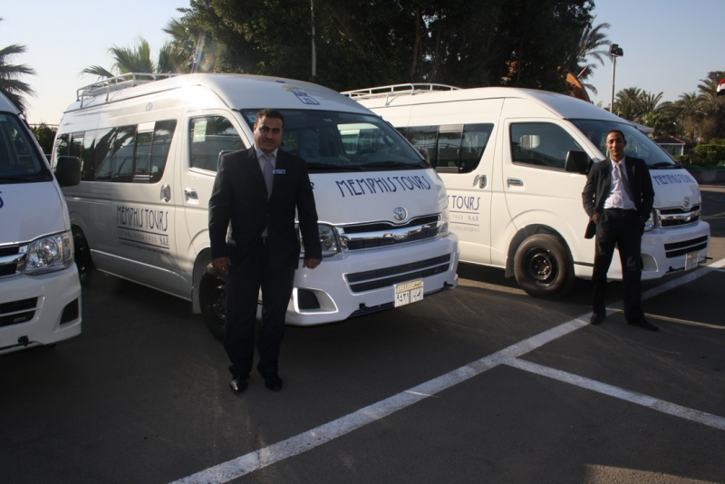 Memphis Tours Mini Vans at Sharm Airport