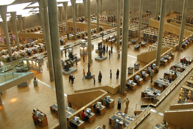 Inside the New library in Alexandria