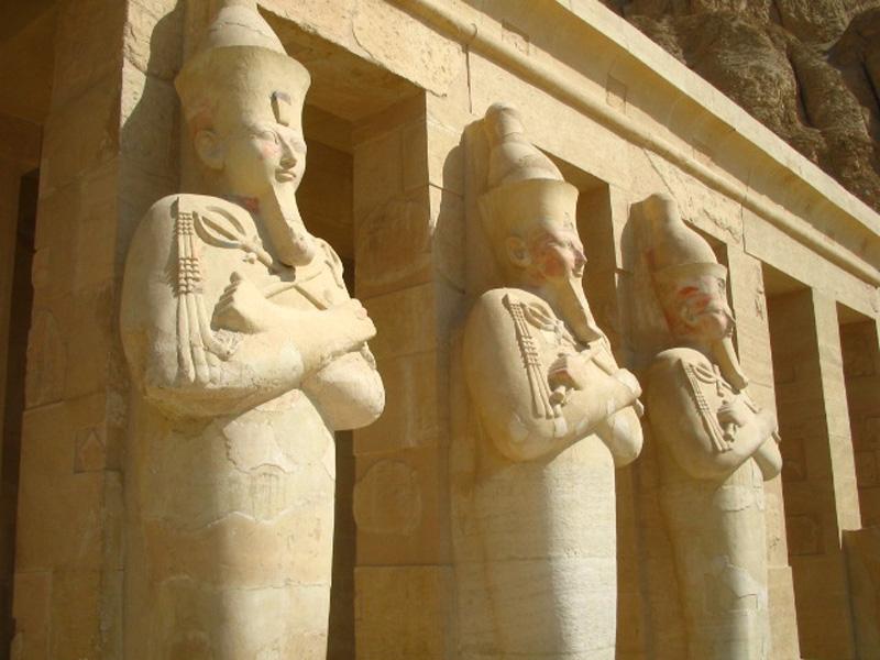 The Upper Level of Hatshepsut Temple in Luxor