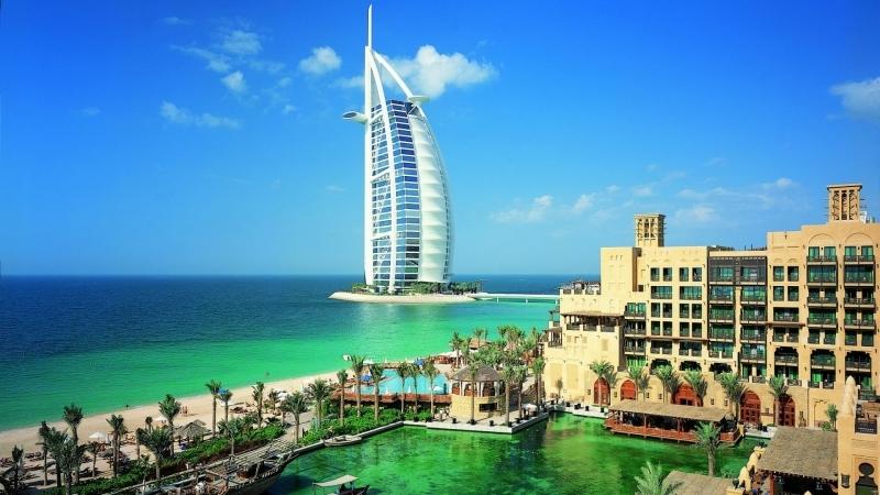 Ужин в Дубай Бурдж Аль Араб Отель