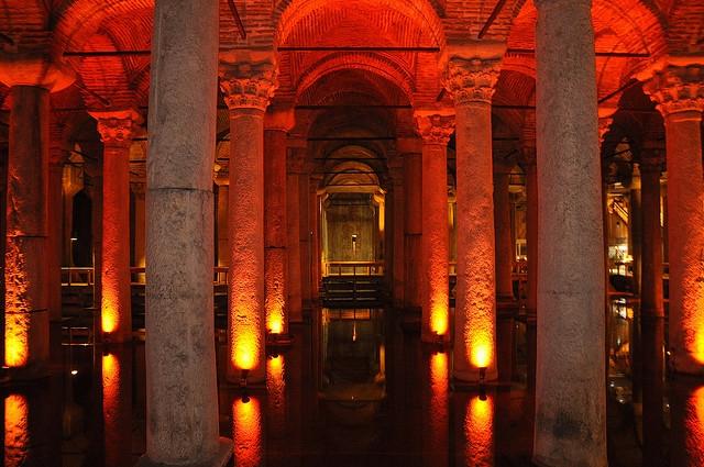 Cistern Basilica in Istanbul, Turkey