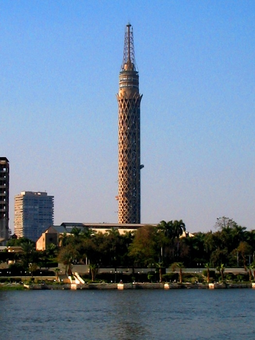 Cairo Tower, a free-standing concrete tower located in Cairo, Egypt