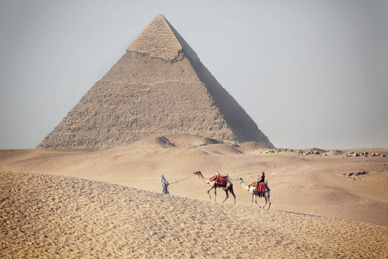 Camel ride the Pyramids