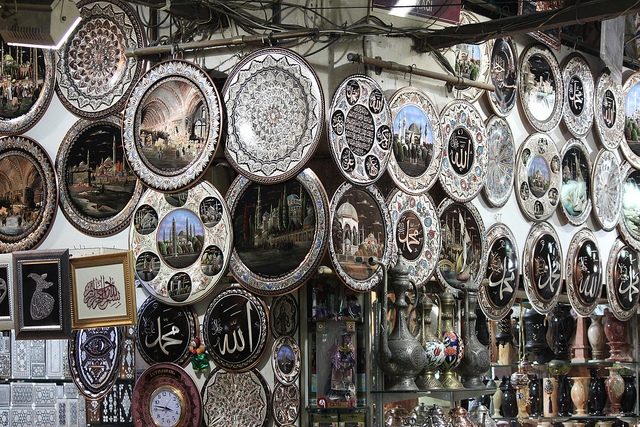Handmade Silver Souvenirs in The Grand Bazaar, Istanbul