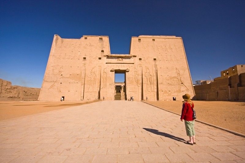 Edfu Temple Facade in Upper Egypt