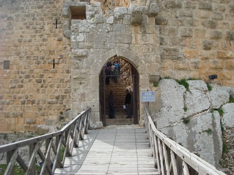 Accès au château d'Ajloun