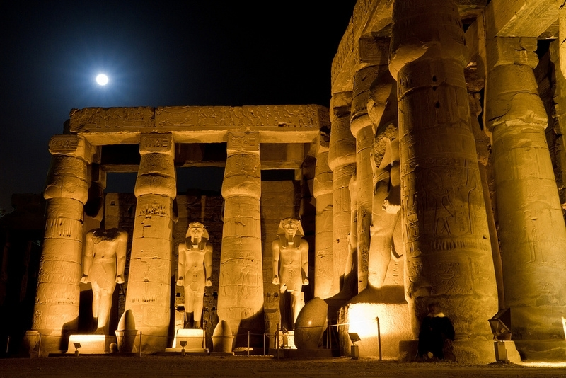 Luxor Temple by Night