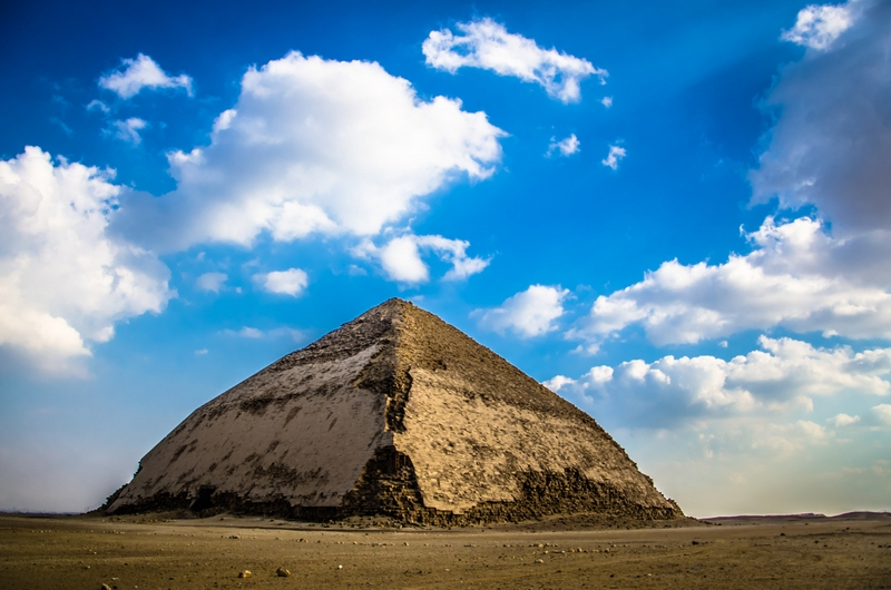 Bent Pyramid in Egypt