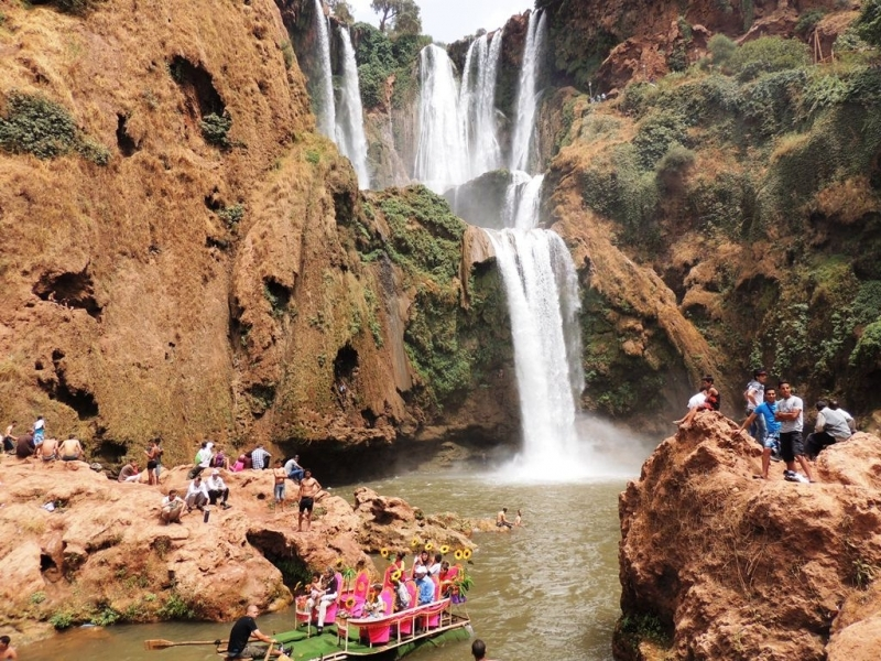 Feeling Relaxed at Ouzoud Waterfall