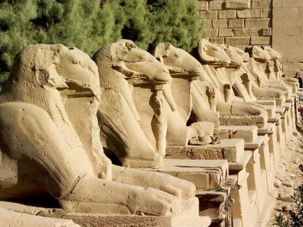 Sphinx in Luxor Tempel