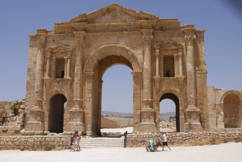 Hadrian's Gate in Jerash