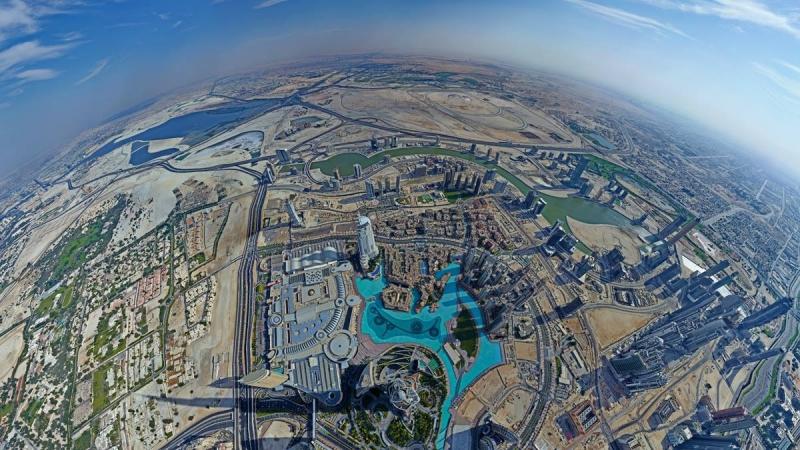 Vista Panoramica di Dubai