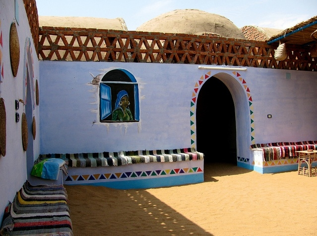 A Nubian House at the Nubian Village, Aswan