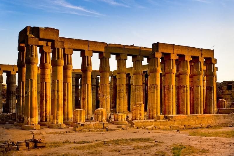 O Templo de Luxor, Egito.