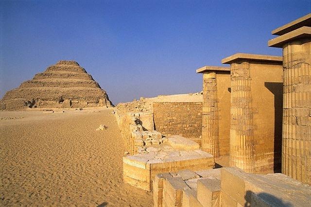 Djoser Step Pyramid at Saqqara Field