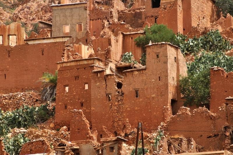 los kasbahs de Tafraoute.