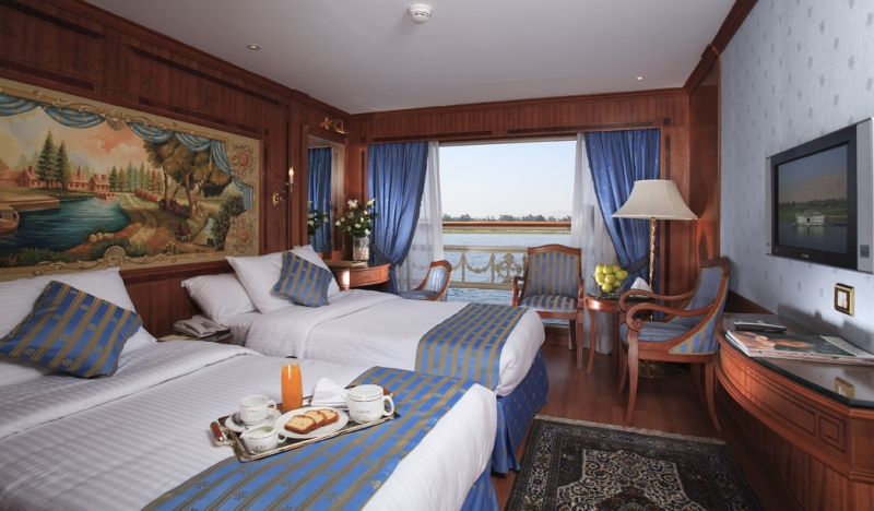 Nile Cruise Twine Bed Cabin