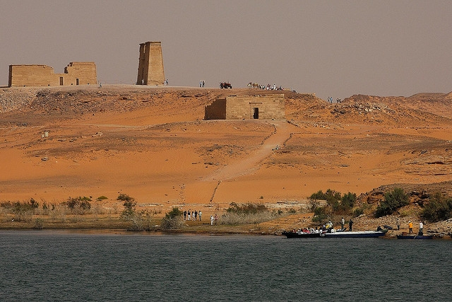 Temple of Amada Seen from the Nile