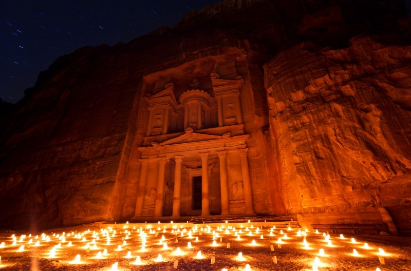 Petra at the night, Jordan
